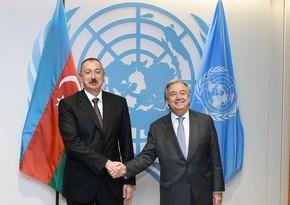 Ilham Aliyev phones UN chief