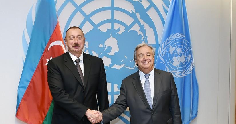 Состоялся телефонный разговор между Ильхамом Алиевым и генсеком ООН