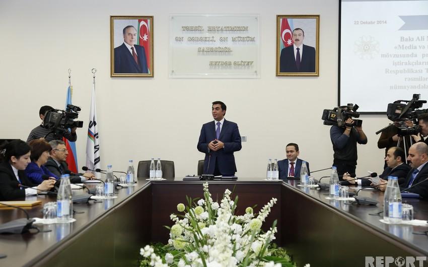 Təhsil və media dialoqu mövzusunda konfrans işini Bakı Ali Neft Məktəbində davam etdirib
