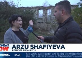 """""""Euronews"""" işğaldan azad olunmuş Füzuli şəhərindən reportaj hazırlayıb"""