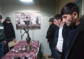 Şabranda karantini pozan çayxana sahibi və müştəriləri saxlanıldı