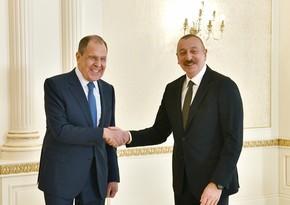 Prezident Rusiyanın xarici işlər nazirini qəbul edib - YENİLƏNİB