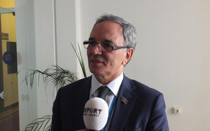 """Əflatun Amaşov: """"Hazırda Azərbaycanda alternativ enerjidən istifadə 17 faizə yaxındır"""""""