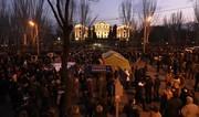 Paşinyanın əleyhdarları Yerevanda parlamentin binası qarşısında çadırlar qurdu