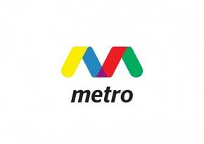 """Bakı metrosunun """"8 Noyabr"""" stansiyasının lövhəsi vurulub"""