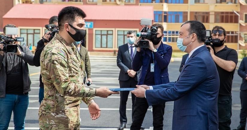 Şəhid ailələri və Qarabağ müharibəsi əlillərinə mənzil verildi