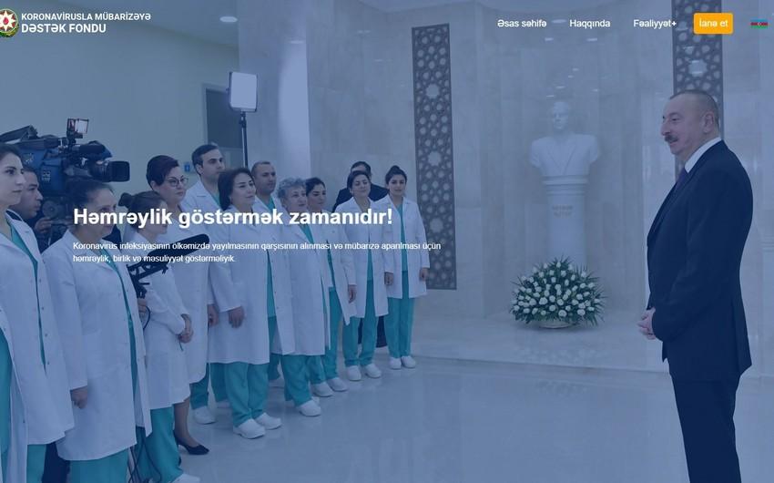 Koronavirusla Mübarizəyə Dəstək Fondunun saytı fəaliyyətə başladı