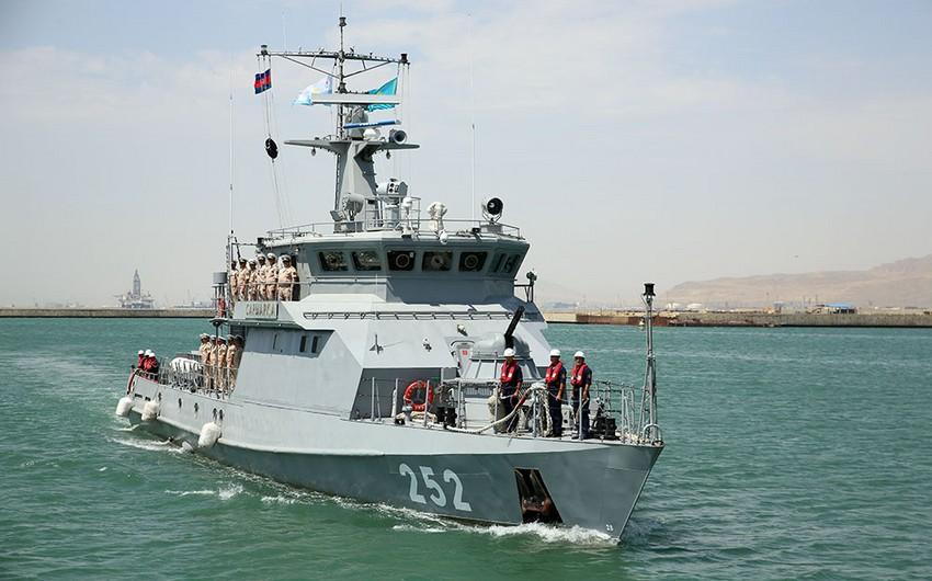 Iran and Kazakhstan's warships arrived in Baku