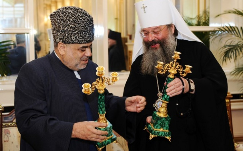 Аллахшукюр Пашазаде награжден медалью 130 лет Екатеринбурской епархии
