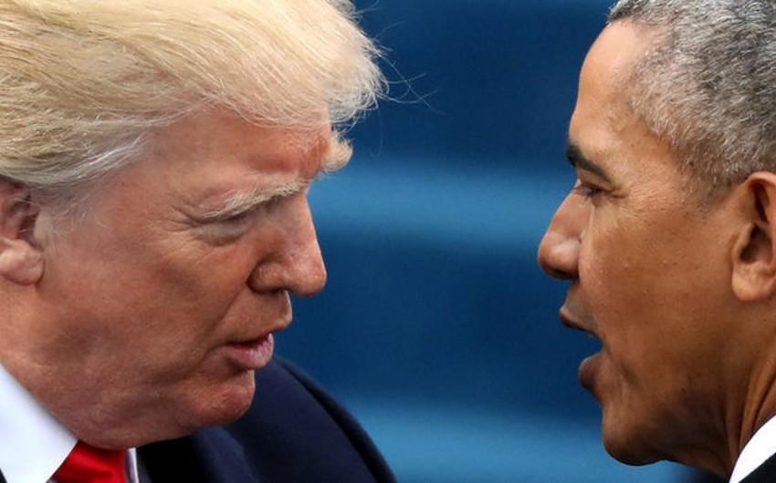 Tramp Obamanı yalan danışmaqda günahlandırıb