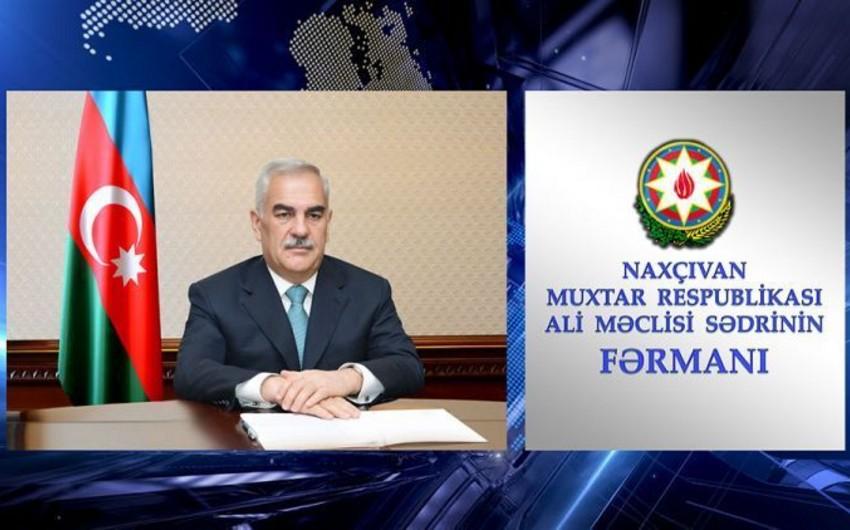 Naxçıvanda Dövlət Xidmətinə yeni rəis təyin edildi