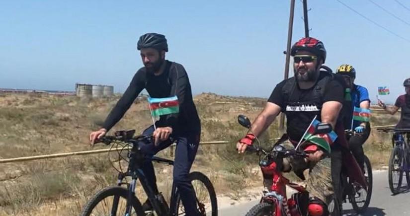 Bakıdan Abşeron milli parkına velosiped yürüşü keçirilib