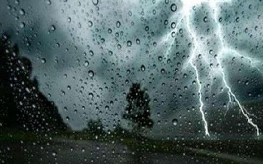 Sabah şimşək çaxacaq, leysan xarakterli intensiv yağış yağacaq, dolu düşəcək - XƏBƏRDARLIQ