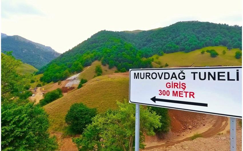 AAYDA: Murovdağ tunelinin 500 metrlik hissəsinin tikintisi yekunlaşmayıb