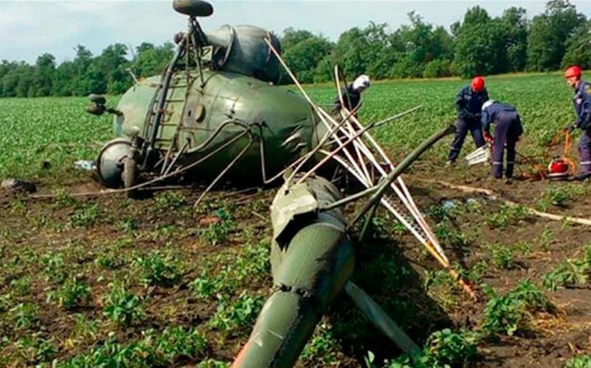 Ukraynada Mi-2 helikopterinin qəzaya uğraması nəticəsində 2 nəfər ölüb
