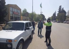 Biləsuvarda yol hərəkəti qaydalarını pozan sürücülərə qarşı reyd keçirildi