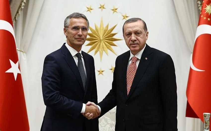 Türkiyə prezidenti NATO-nun baş katibi ilə görüşüb
