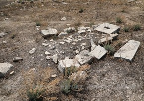 Foreign journalists visit cemetery destroyed by Armenians in Jabrayil region