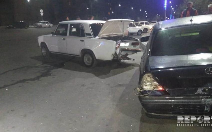 В Гяндже произошла цепная авария, есть пострадавшие - ФОТО