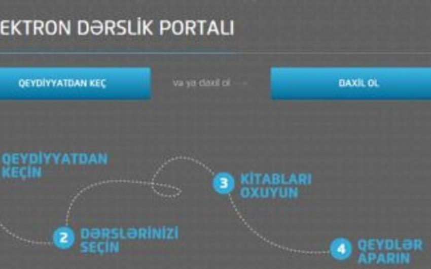 Azərbaycan Təhsil Nazirliyinin elektron dərslik portalından istifadə edənlərin sayı açıqlanıb