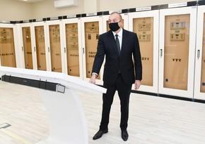 Президент Азербайджана и первая леди приняли участие в открытии подстанции Губадлы