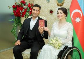 Qazi ilə ailə quran paralimpiyaçı: Onunla təsadüf nəticəsində tanış olmuşuq