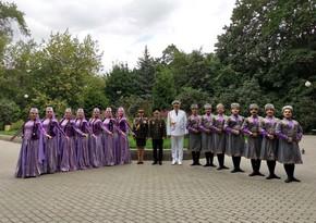 Azerbaijani military men attend festival in Moscow
