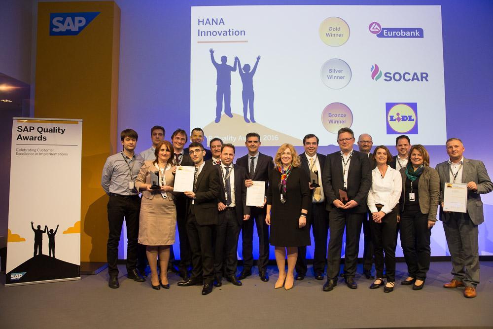 SOCAR EMEA regionunda SAP Quality Awards 2016 mükafatına layiq görülüb
