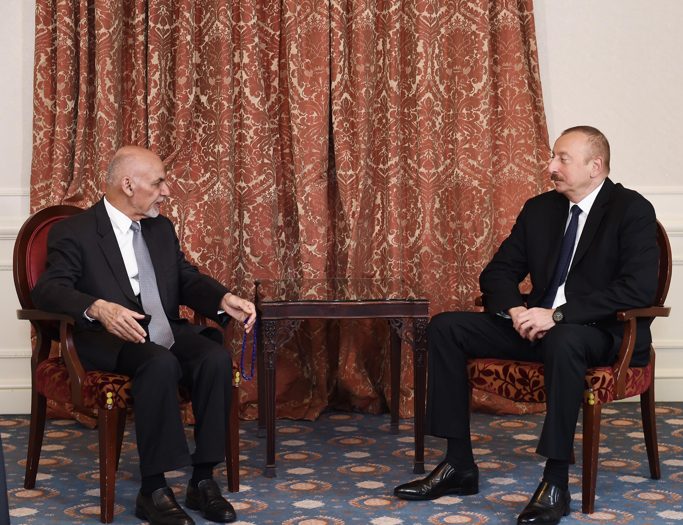 В Брюсселе состоялась встреча между президентами Азербайджана и Афганистана