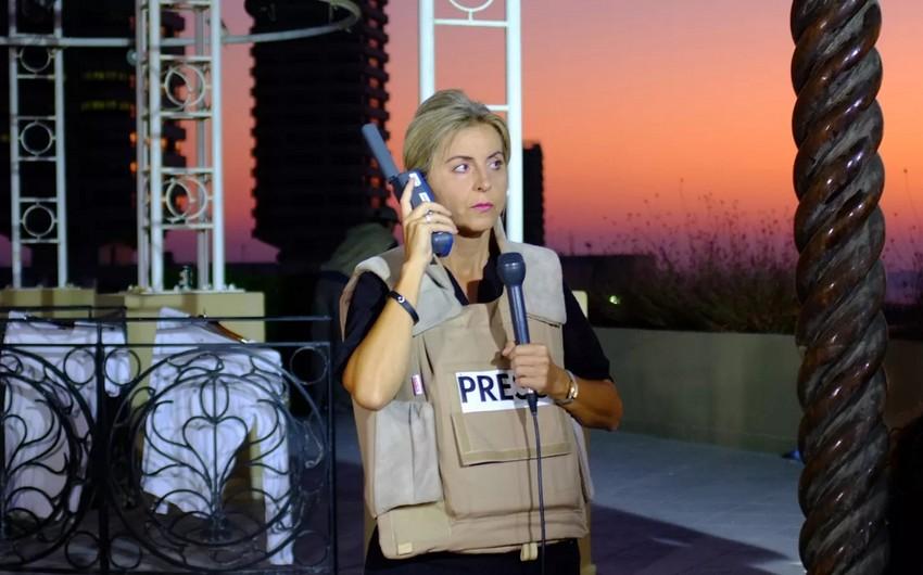 Ermənilər cəbhə xəttindən reportaj hazırlayan Fransa kanalının jurnalistini təhdid etdilər