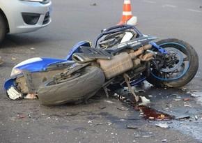 В Шабране мотоциклист пострадал в аварии