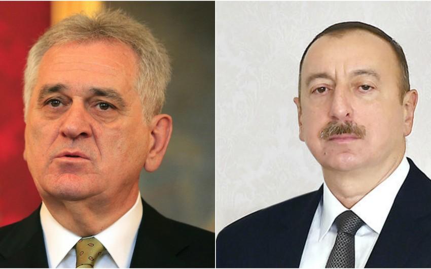 Serbiya Prezidenti Azərbaycan Prezidentini təbrik edib