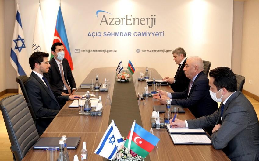 Azərbaycan və İsrailin enerji sistemlərinin əməkdaşlığı müzakirə olunub