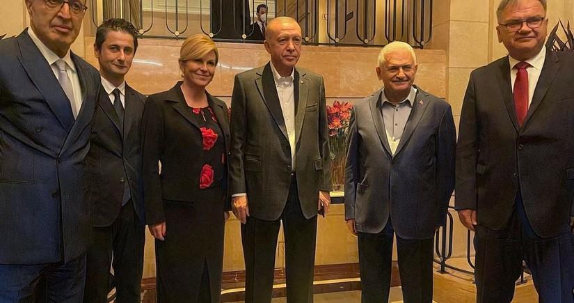 Члены Международного центра Низами Гянджеви встретились с Эрдоганом