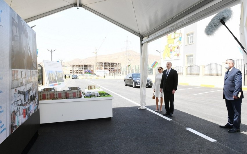 President Ilham Aliyev inaugurates residential complex for IDPs