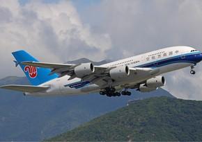 Китайская авиакомпания отменила рейс Баку-Урумчи