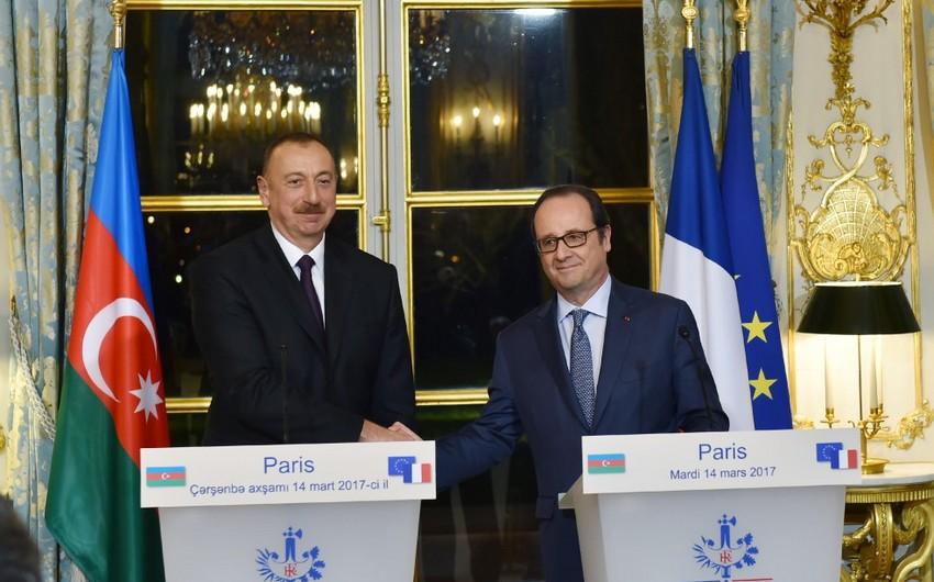 Fransua Olland: Azərbaycan ilə Fransa arasında siyasi sahədə yaxşı əlaqələr var
