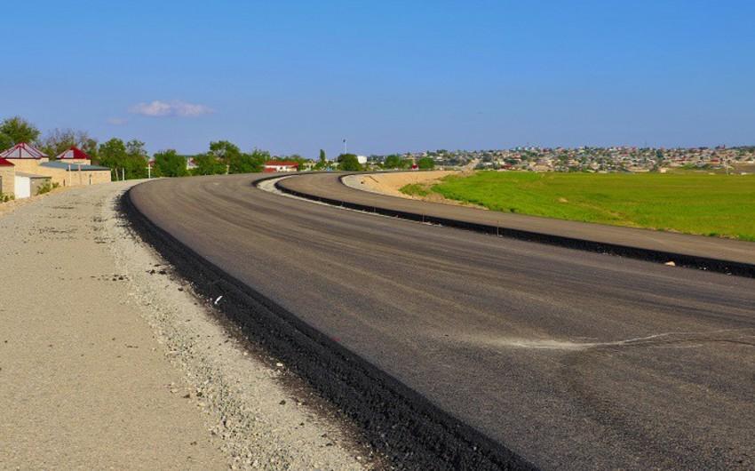 Bakı-Şamaxı avtomobil yolunun yenidən qurulması davam edir