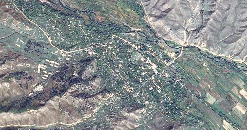 Satellite imagery of Zangilan