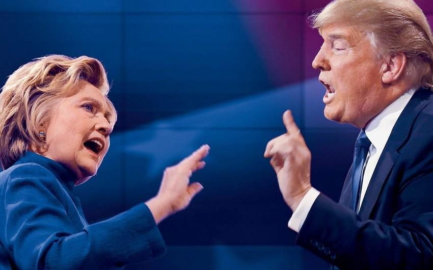 ABŞ-da son rəy sorğuları: Hillari Klinton Donald Trampı üstələyir