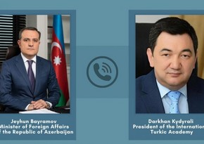 Jeyhun Bayramov had phone conversation with President of International Turkic Academy