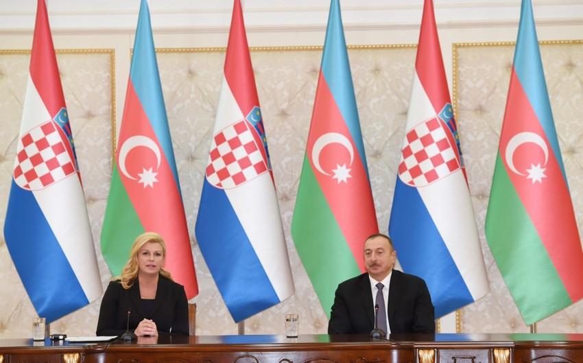 Xorvatiya prezidenti: Biz TANAP, TAP və digər enerji layihələrinin tamamlanmasını səbirsizliklə gözləyirik
