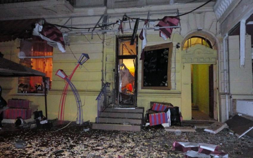 Odessa restoranlarının birində partlayış baş verib