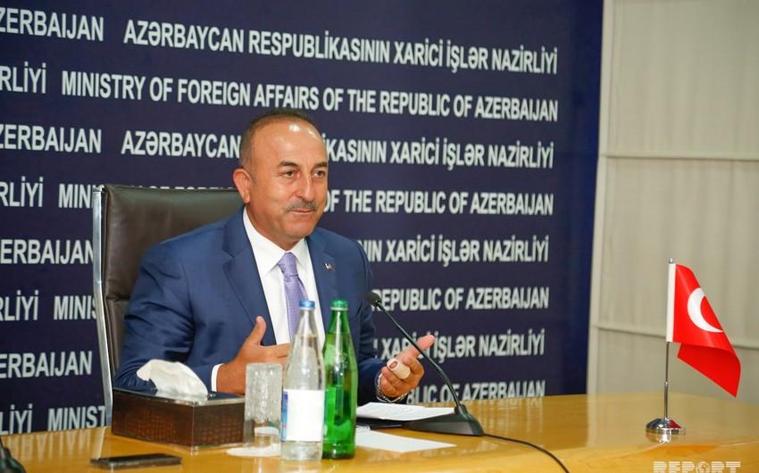 Mövlud Çavuşoğlu: Azərbaycan və Türkiyə regionun bütün layihələrinin mərkəzindədir