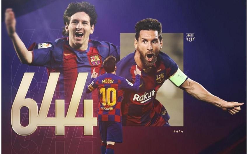 Lionel Messi: Futbolda rekord qıracağımı düşünməmişdim