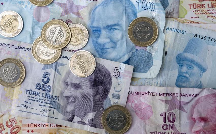 Türk lirəsi son bir ayda 13% devalvasiya olub