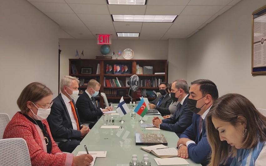 Главы МИД Азербайджана и Финляндии провели встречу в Нью-Йорке
