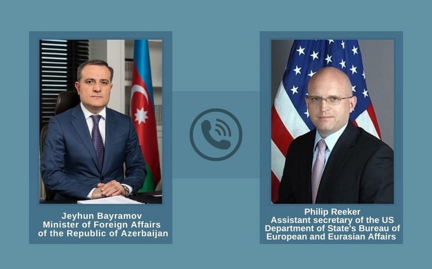 Jeyhun Bayramov, US official discuss situation on Azerbaijani-Armenian border