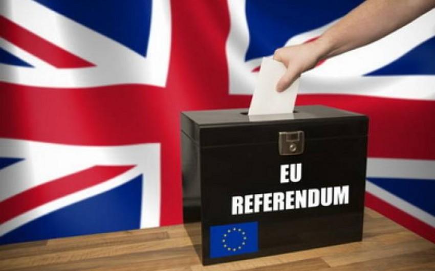 Britaniyada keçirilən referendumun ölkələr üzrə nəticələri açıqlanıb