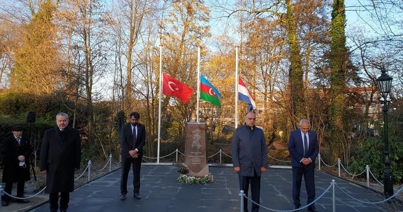 В Гааге установили памятник жертвам Ходжалы
